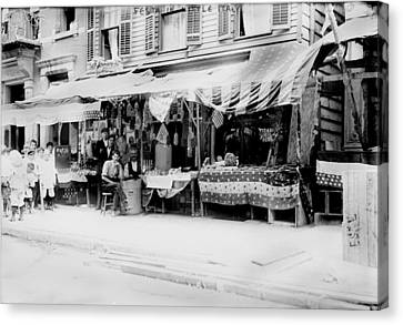 New York City, Italian Wares On Display Canvas Print by Everett