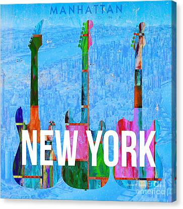 New York City Music Scene Canvas Print by Edward Fielding