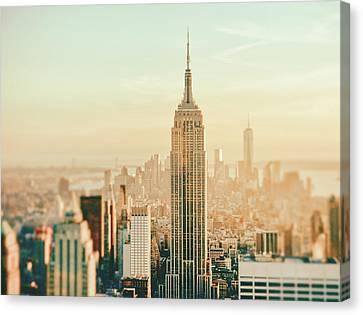 New York City - Skyline Dream Canvas Print by Vivienne Gucwa