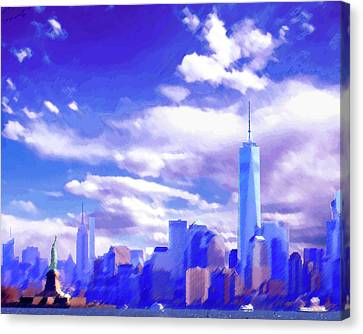 New York City Skyline With Freedom Tower Canvas Print by Steve Karol