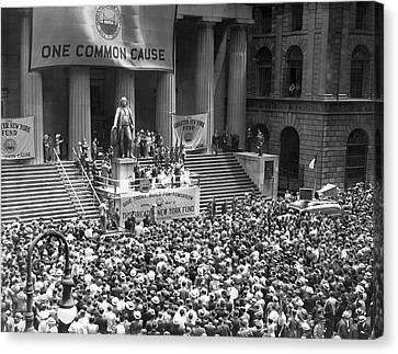 New York Fund Raiser Canvas Print by Underwood Archives