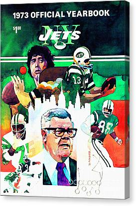 New York Jets 1973 Yearbook Canvas Print by Big 88 Artworks