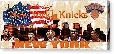 New York Knicks Canvas Print by Don Kuing