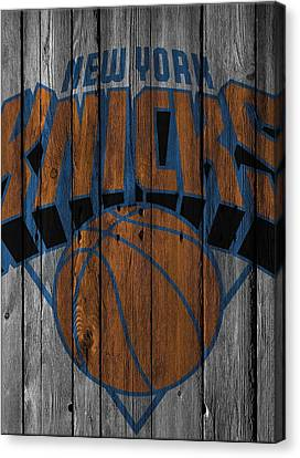New York Knicks Wood Fence Canvas Print by Joe Hamilton