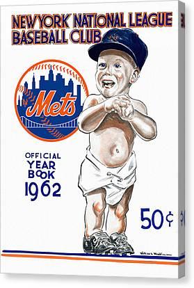 New York Mets 1962 Yearbook Canvas Print by Big 88 Artworks