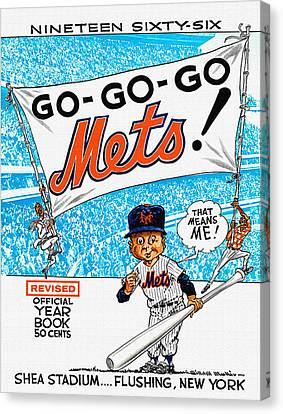 New York Mets 1966 Yearbook Canvas Print by Big 88 Artworks