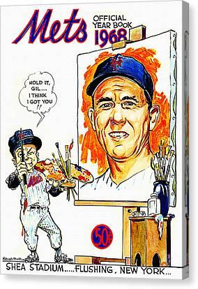 New York Mets 1968 Yearbook Canvas Print by Big 88 Artworks
