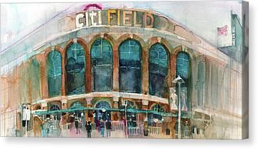 New York Mets Art Print Citifield Canvas Print by Dorrie Rifkin