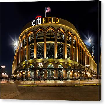 New York Mets Citi Field  Canvas Print by Susan Candelario