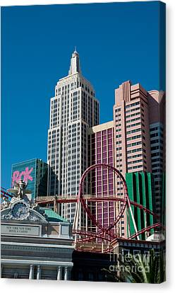 New York New York Hotel Canvas Print by Andy Smy