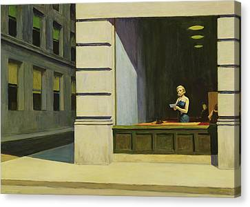 New York Office, 1962 Canvas Print by Edward Hopper