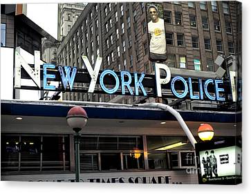 New York Police Canvas Print by John Rizzuto
