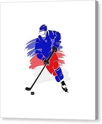 New York Rangers Player Shirt Canvas Print by Joe Hamilton