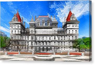 New York State Capitol Canvas Print by Lanjee Chee