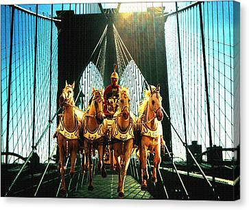 New York Time Machine - Fantasy Art Collage Canvas Print by Art America Online Gallery