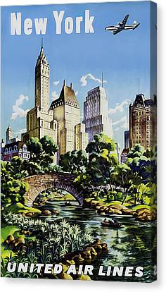 New York United Air Lines Canvas Print by Mark Rogan