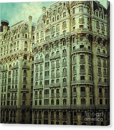 New York Upper West Side Apartment Building Canvas Print by Amy Cicconi