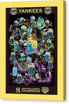 New York Yankees 2009 World Series Champions Canvas Print by Dave Olsen