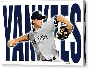 New York Yankees Canvas Print by Stephen Younts