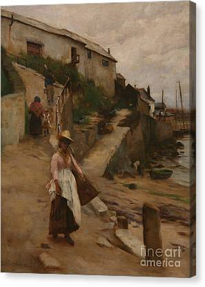 Newlyn Slip Canvas Print by William Banks Fortescue