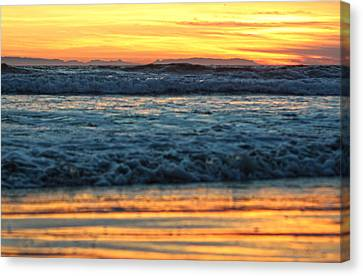 Newport Beach Sunset 1 Canvas Print by Habib Ayat