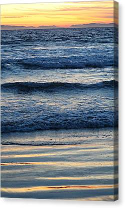 Newport Beach Sunset 2 Canvas Print by Habib Ayat