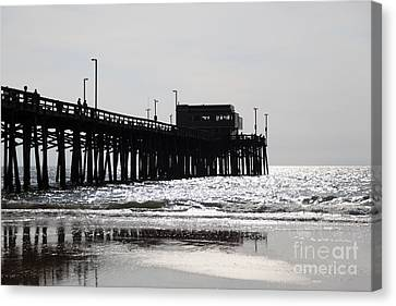 Newport Pier Canvas Print by Paul Velgos
