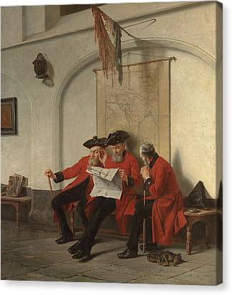 News From The Front Canvas Print by Charles Meer Webb
