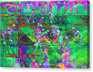 Nfl Football Red Zone Dsc3941 20151215 P88 Canvas Print by Wingsdomain Art and Photography