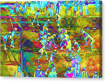 Nfl Football Red Zone Dsc3941 20151215 Canvas Print by Wingsdomain Art and Photography