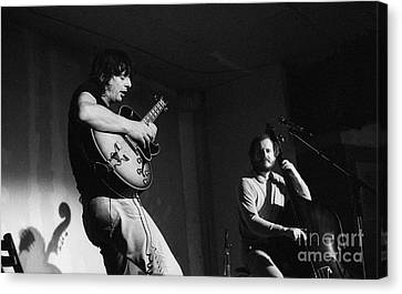 Nhop And Philip Catherine On Stage Canvas Print by Philippe Taka