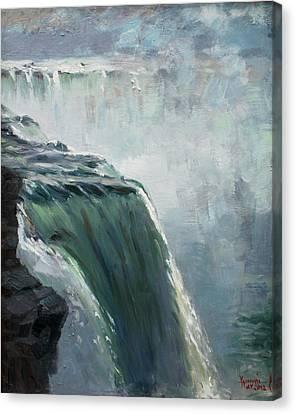 Niagara Falls Ny Canvas Print by Ylli Haruni