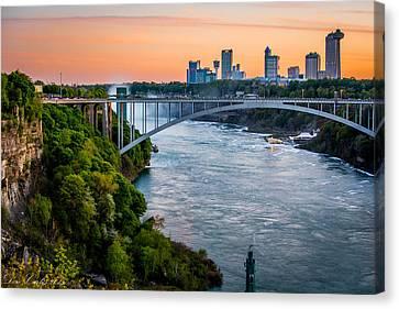 Niagara Falls Skyline And Gorge Canvas Print by Carlos Ruiz