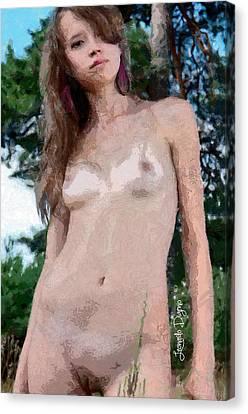 Nice Beauty - Da Canvas Print by Leonardo Digenio