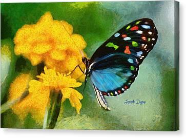Nice Butterfly - Da Canvas Print by Leonardo Digenio