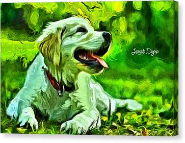 Nice Dog Canvas Print by Leonardo Digenio