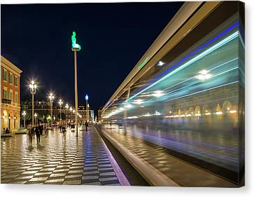 Nice Place Massena In The Evening Canvas Print by Melanie Viola