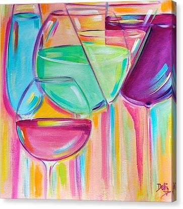 Nice Stems Canvas Print by Debi Starr