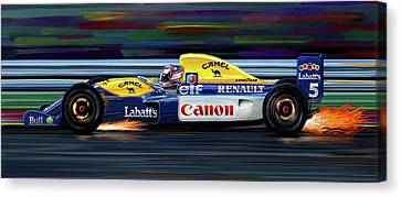 Nigel Mansell Williams Fw14b Canvas Print by David Kyte