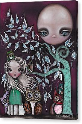 Night Creatures Canvas Print by  Abril Andrade Griffith