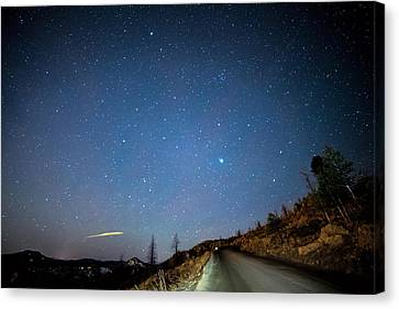 Star Canvas Print featuring the photograph Night Drive by James BO Insogna
