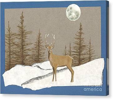 Night Encounter Canvas Print by Ele Grafton