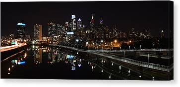 Night In Philly Canvas Print by Jennifer Ancker