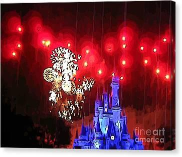 Night In The Magic Kingdom Canvas Print by John Malone