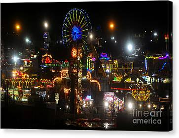 Night Lights At The Fair Canvas Print by David Lee Thompson