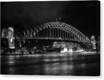 Night Lights Of Sydney Canvas Print by Mountain Dreams