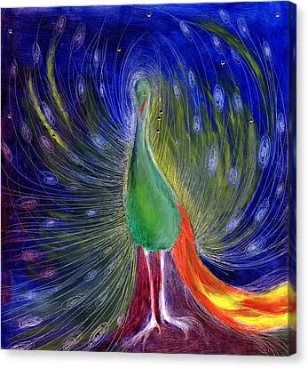 Night Of Light Canvas Print by Nancy Moniz