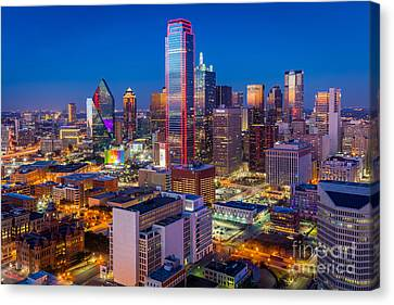 Night Over Dallas Canvas Print by Inge Johnsson