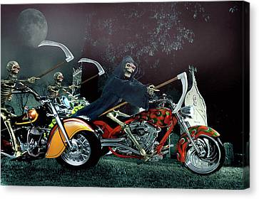 Night Riders Canvas Print by Steven Agius