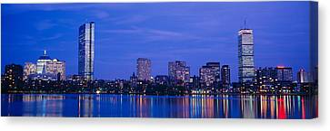 Night, Skyline, Back Bay, Boston Canvas Print by Panoramic Images